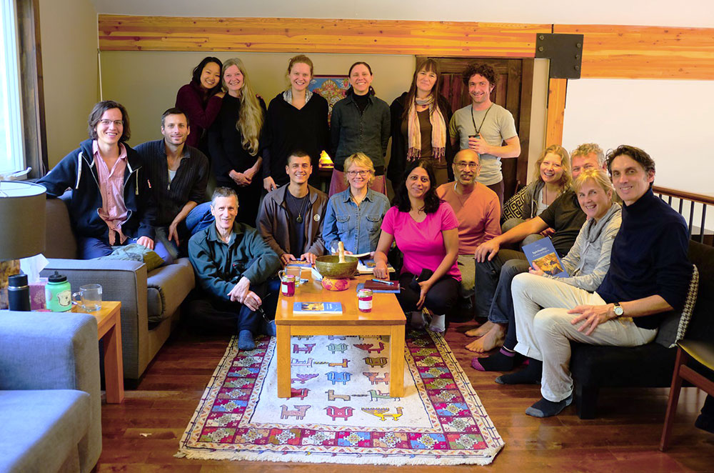 group from meditation retreat
